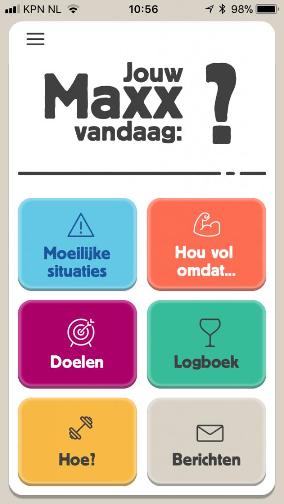 Maxx app motiveert mensen om minder alcohol te drinken