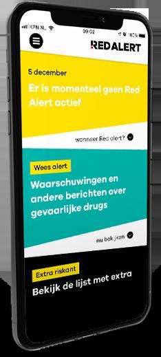 Gebruikers geven drugsalarm-app Red Alert 4 sterren