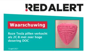 Gevaarlijke pillen in omloop met Tesla-logo bevatten zeer hoge dosis DOC